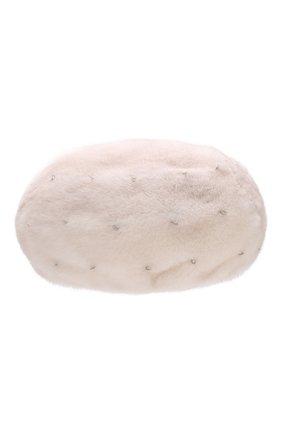 Женский берет из меха норки KUSSENKOVV бежевого цвета, арт. 012000024029   Фото 1