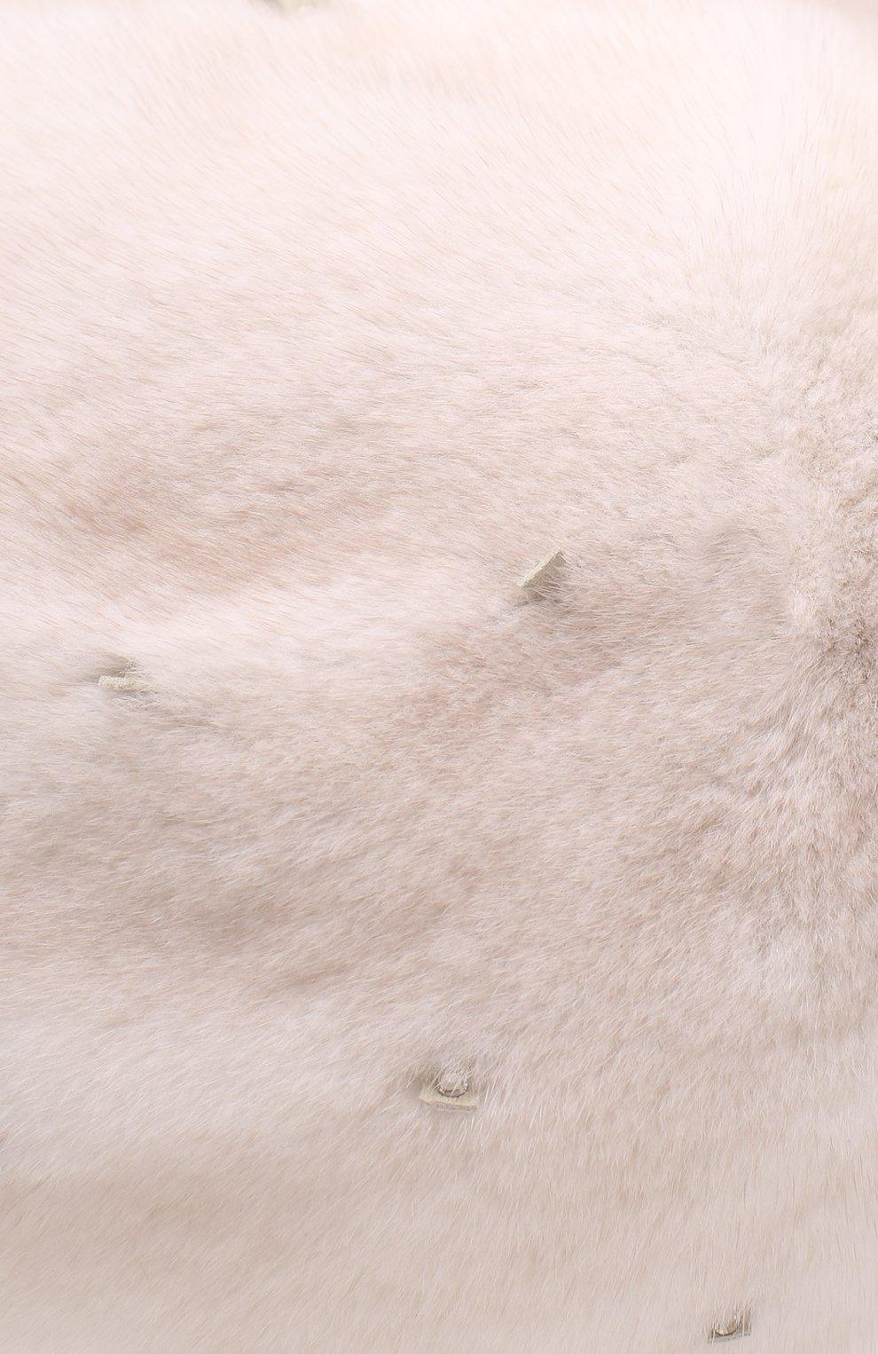 Женский берет из меха норки KUSSENKOVV бежевого цвета, арт. 012000024029   Фото 3