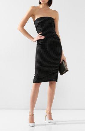 Женское шерстяное платье DOLCE & GABBANA серого цвета, арт. F6H8XT/FR2XI | Фото 2