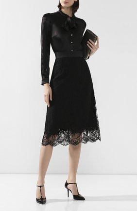 Женская кружевная юбка DOLCE & GABBANA черного цвета, арт. F4AY6T/HLMQJ | Фото 2