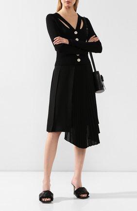Женская юбка MONCLER черного цвета, арт. F1-093-2D700-10-C0359 | Фото 2