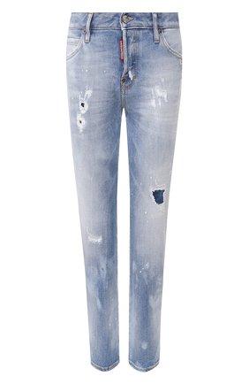 Женские джинсы DSQUARED2 голубого цвета, арт. S75LB0283/S30662 | Фото 1