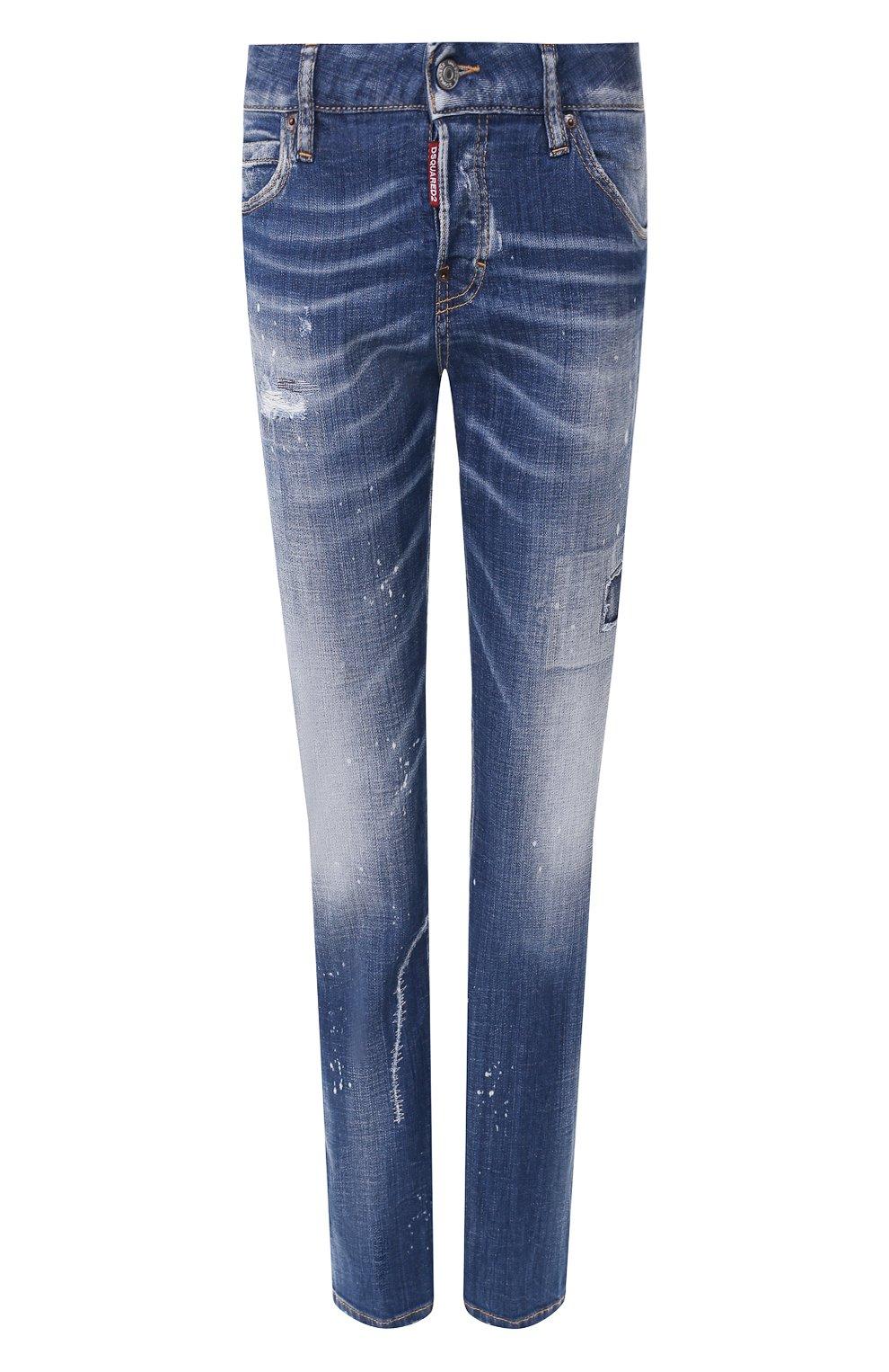 Женские джинсы DSQUARED2 синего цвета, арт. S75LB0281/S30342 | Фото 1