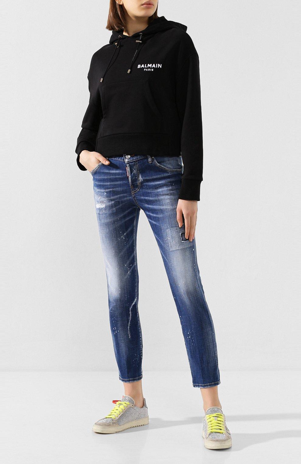 Женские джинсы DSQUARED2 синего цвета, арт. S75LB0281/S30342 | Фото 2