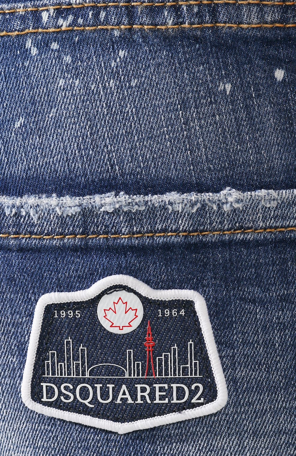 Женские джинсы DSQUARED2 синего цвета, арт. S75LB0281/S30342 | Фото 5