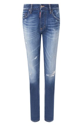 Женские джинсы DSQUARED2 синего цвета, арт. S75LB0279/S30663 | Фото 1