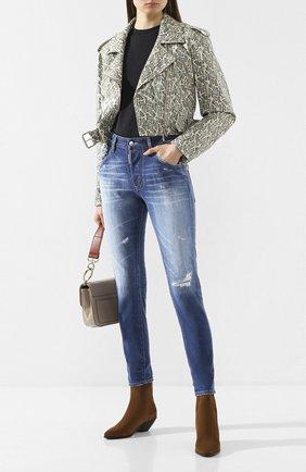Женские джинсы DSQUARED2 синего цвета, арт. S75LB0279/S30663 | Фото 2