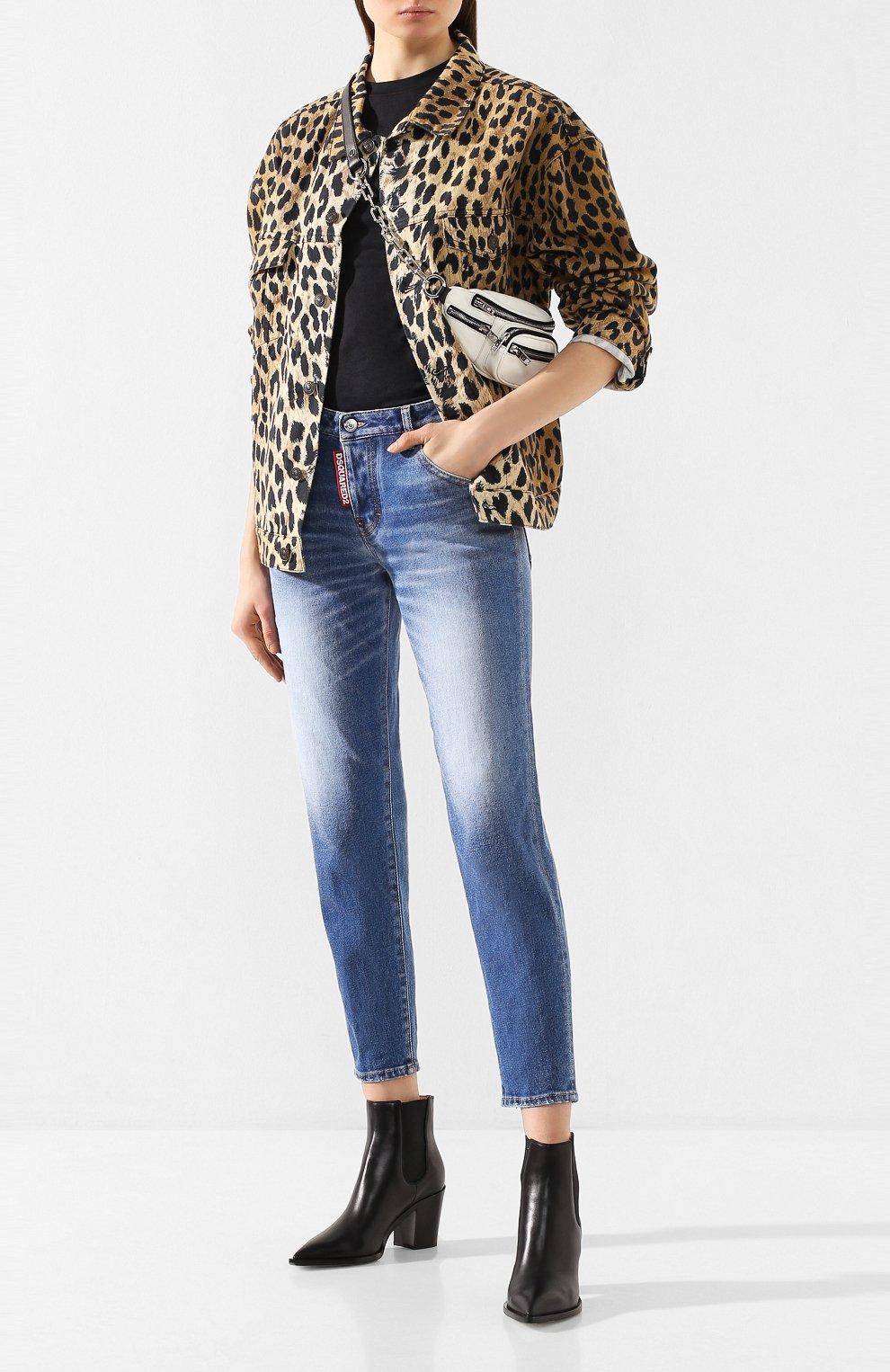 Женские джинсы DSQUARED2 синего цвета, арт. S75LB0278/S30662 | Фото 2