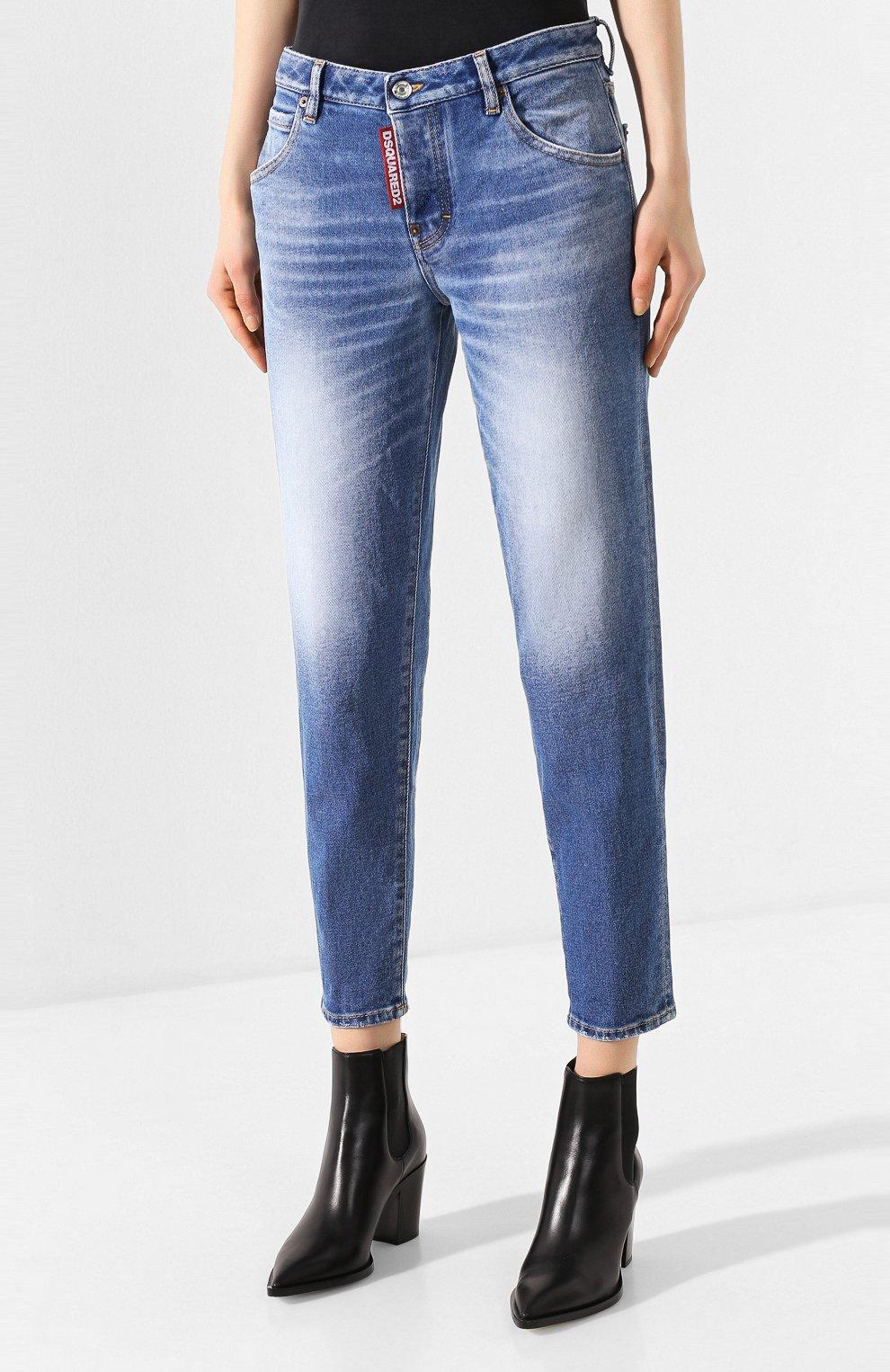 Женские джинсы DSQUARED2 синего цвета, арт. S75LB0278/S30662 | Фото 3