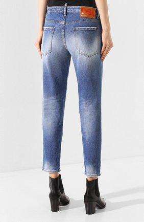 Женские джинсы DSQUARED2 синего цвета, арт. S75LB0278/S30662 | Фото 4