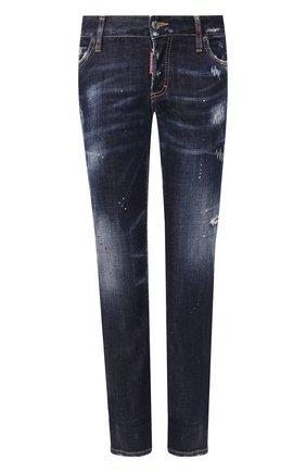 Женские джинсы DSQUARED2 темно-синего цвета, арт. S75LB0268/S30664   Фото 1
