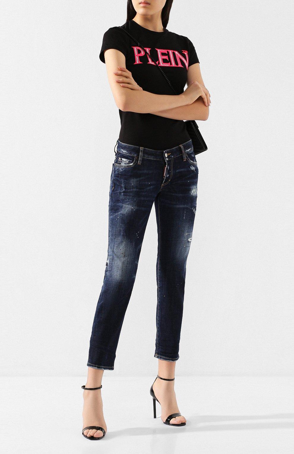 Женские джинсы DSQUARED2 темно-синего цвета, арт. S75LB0268/S30664   Фото 2