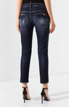 Женские джинсы DSQUARED2 темно-синего цвета, арт. S75LB0268/S30664   Фото 4