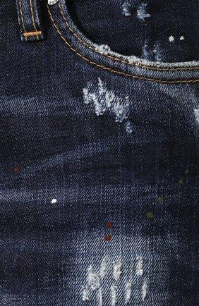 Женские джинсы DSQUARED2 темно-синего цвета, арт. S75LB0268/S30664   Фото 5