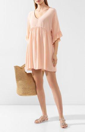 Женское шелковое платье FISICO розового цвета, арт. P0/F/FV29H0 | Фото 2