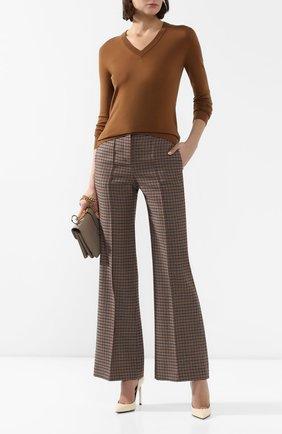 Женский шерстяной пуловер LORO PIANA коричневого цвета, арт. FAI8067/VVIC   Фото 2