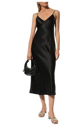 Женское шелковое платье JOSEPH черного цвета, арт. JF004011   Фото 2