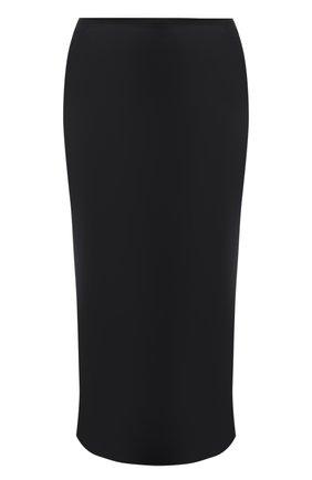 Женская шелковая юбка JOSEPH черного цвета, арт. JF004013 | Фото 1
