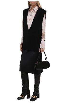 Женская шелковая юбка JOSEPH черного цвета, арт. JF004013 | Фото 2