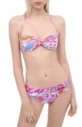 Женский раздельный купальник EMILIO PUCCI розового цвета, арт. 0EMA15/0E778   Фото 2