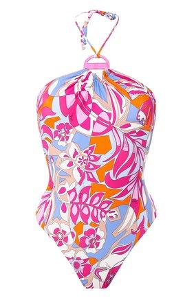 Женский слитный купальник EMILIO PUCCI розового цвета, арт. 0EMC25/0E778 | Фото 1