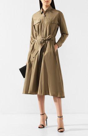 Женское шелковое платье RALPH LAUREN хаки цвета, арт. 290790418 | Фото 2