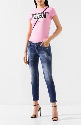 Женские джинсы DSQUARED2 синего цвета, арт. S80LA0006/S30663 | Фото 2