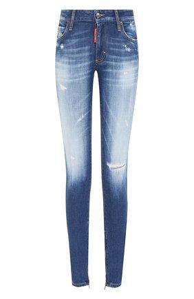 Женские джинсы DSQUARED2 синего цвета, арт. S75LB0280/S30663 | Фото 1