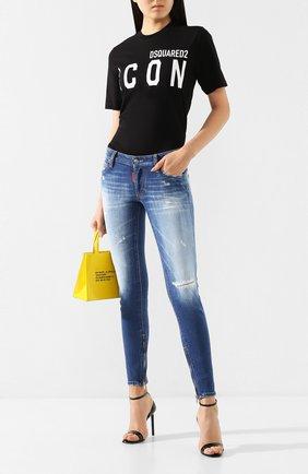 Женские джинсы DSQUARED2 синего цвета, арт. S75LB0280/S30663 | Фото 2