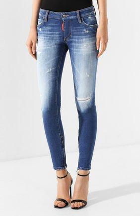 Женские джинсы DSQUARED2 синего цвета, арт. S75LB0280/S30663 | Фото 3