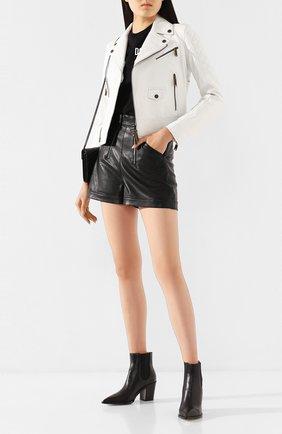 Женская кожаная куртка DSQUARED2 белого цвета, арт. S75AM0748/SY1442 | Фото 2