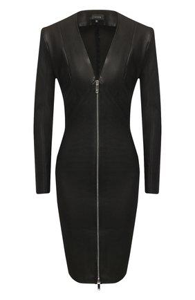 Женское кожаное платье JITROIS черного цвета, арт. R0BE VEGA FEM APS | Фото 1