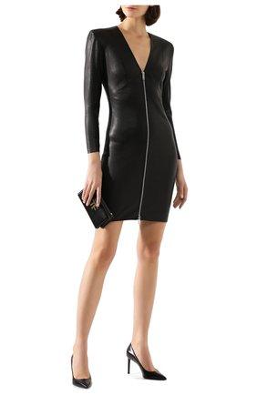 Женское кожаное платье JITROIS черного цвета, арт. R0BE VEGA FEM APS | Фото 2
