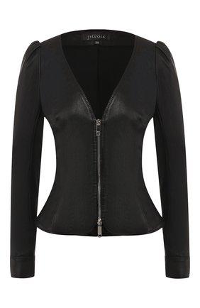 Женский кожаный жакет JITROIS черного цвета, арт. BL0US0N ZELDA AGNEAU STRETCH | Фото 1