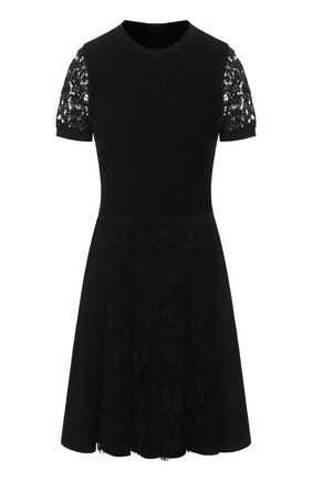 Женское платье из вискозы VALENTINO черного цвета, арт. TB3KDA6359U   Фото 1