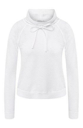 Женский пуловер с перфорированием KORAL белого цвета, арт. A4089C45 | Фото 1