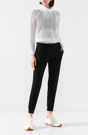 Женский пуловер с перфорированием KORAL белого цвета, арт. A4089C45 | Фото 2