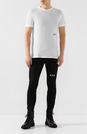 Мужская хлопковая футболка RTA белого цвета, арт. MH9347-7121WHT | Фото 2