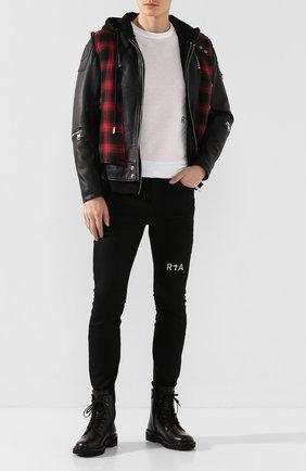 Мужские джинсы RTA черного цвета, арт. MH9AC-0134RWBK | Фото 2