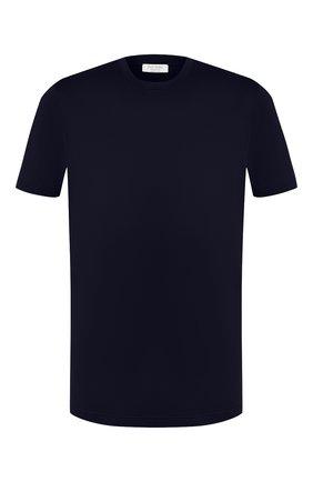Мужская хлопковая футболка GRAN SASSO темно-синего цвета, арт. 60133/74001 | Фото 1 (Длина (для топов): Стандартные; Материал внешний: Хлопок; Принт: Без принта; Рукава: Короткие; Статус проверки: Проверена категория; Стили: Кэжуэл)