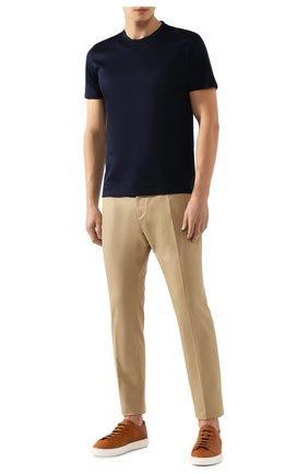 Мужская хлопковая футболка GRAN SASSO темно-синего цвета, арт. 60133/74001 | Фото 2 (Длина (для топов): Стандартные; Материал внешний: Хлопок; Принт: Без принта; Рукава: Короткие; Статус проверки: Проверена категория; Стили: Кэжуэл)
