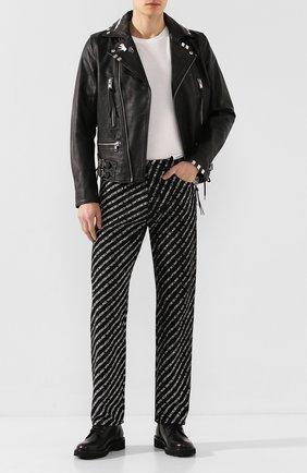 Мужские джинсы DIESEL черно-белого цвета, арт. 00SEAE/069KU | Фото 2