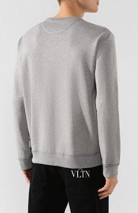 Мужской хлопковый свитшот VALENTINO серого цвета, арт. TV3MF09T60G | Фото 4