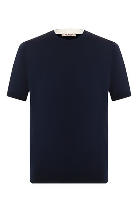 Мужской хлопковый джемпер FIORONI темно-синего цвета, арт. MK20260A2 | Фото 1
