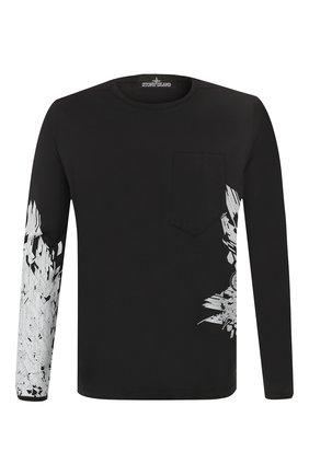 Мужская хлопковый лонгслив STONE ISLAND SHADOW PROJECT черного цвета, арт. 721920215 | Фото 1