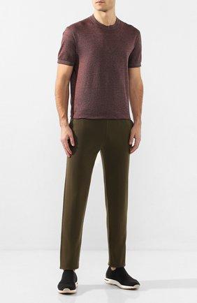 Мужские текстильные кроссовки 360 lp flexy active LORO PIANA темно-серого цвета, арт. FAI4815 | Фото 2