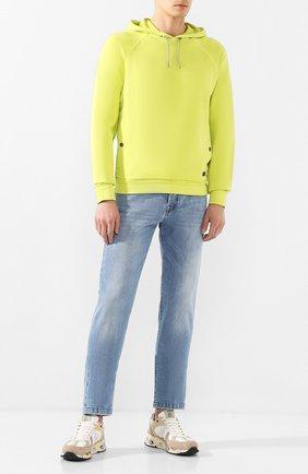 Мужские комбинированные кроссовки mase PREMIATA бежевого цвета, арт. MASE/VAR4552   Фото 2 (Подошва: Массивная; Стили: Гранж; Материал внешний: Текстиль)