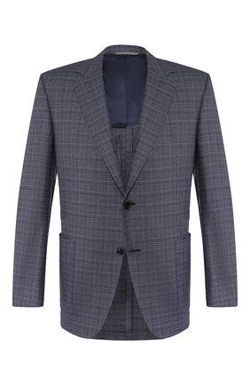 Мужской шерстяной пиджак CANALI синего цвета, арт. 21288/CF02530/116 | Фото 1