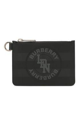 Мужской кошелек для монет BURBERRY темно-серого цвета, арт. 8025125 | Фото 1