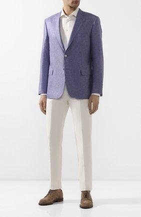 Мужской пиджак из смеси шелка и кашемира BRIONI сиреневого цвета, арт. RG0J0N/P943C/BRUNIC0 | Фото 2